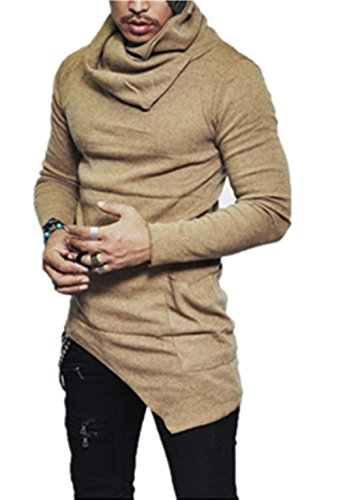 Herren Tops Internet Slim Fit Rollkragen Langarm Muscle Tee T-shirt Lässige  Oberteile Bluse L, gelb 03f31af93b