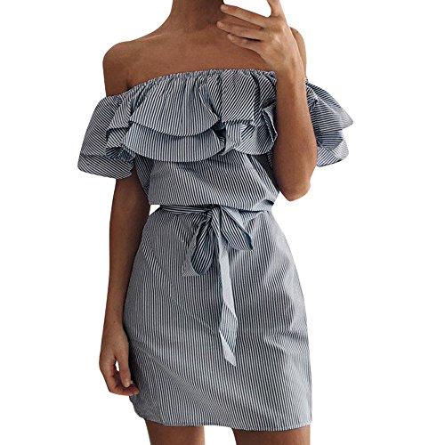 Btruely Kleid Damen Elegant Mädchen Trägerlos Partykleid ...